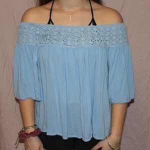 off the shoulder super soft top